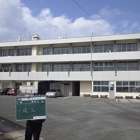岡垣町役場庁舎本館外壁改修工事サムネイル